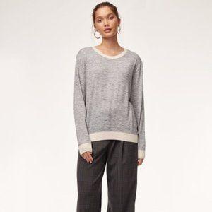 Aritzia Wilfred Heather Galaxy Berri Sweater